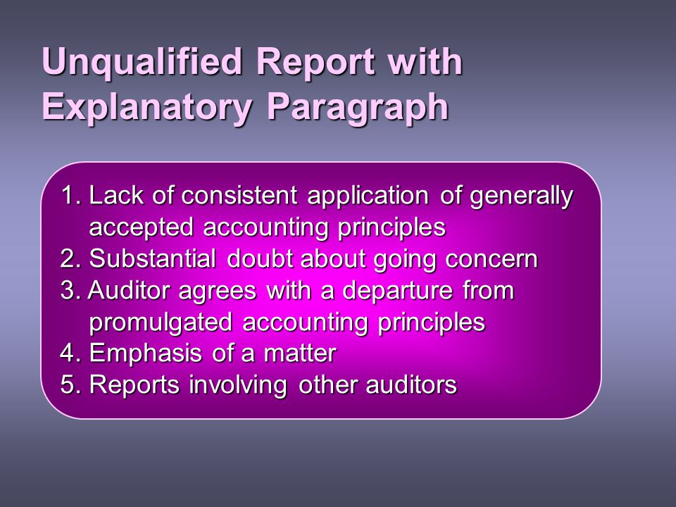 Unqualified Report with Explanatory Paragraph