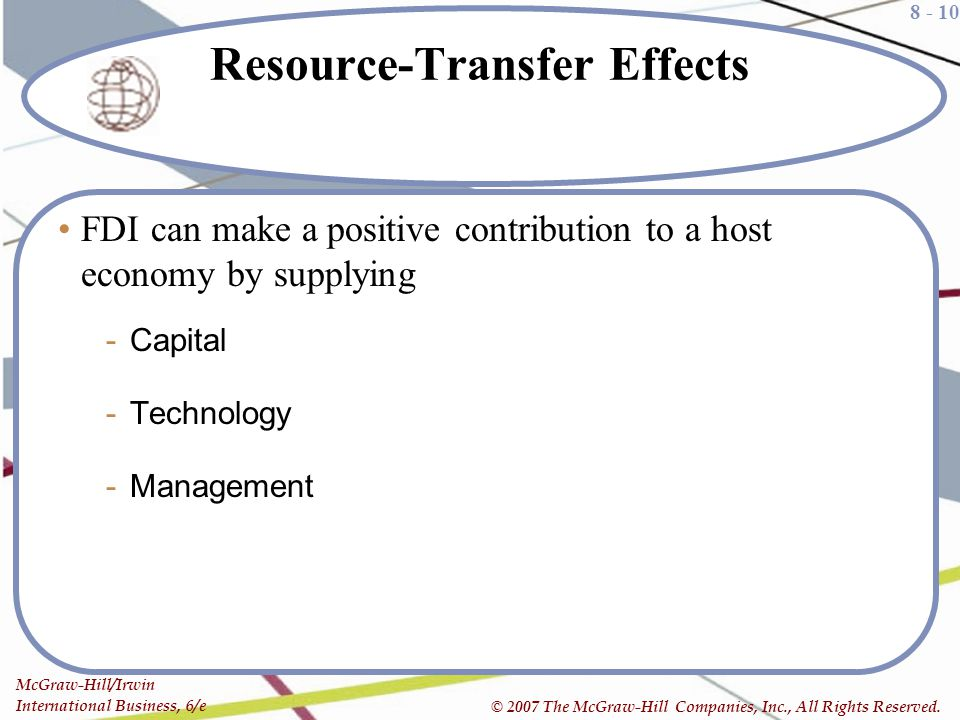 Resource-Transfer Effects