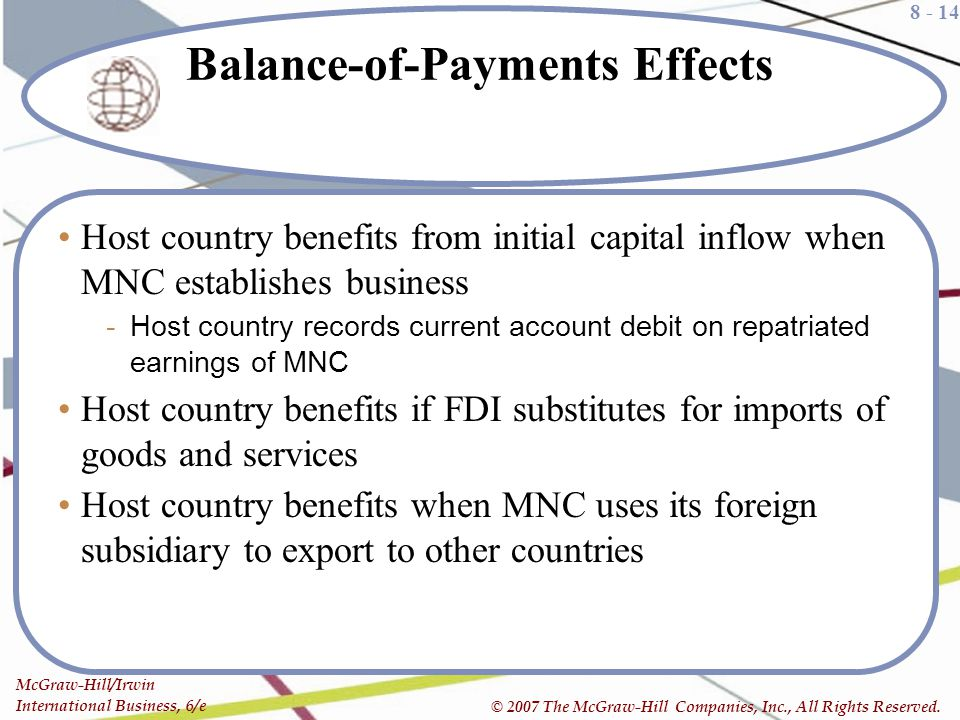 Balance-of-Payments Effects