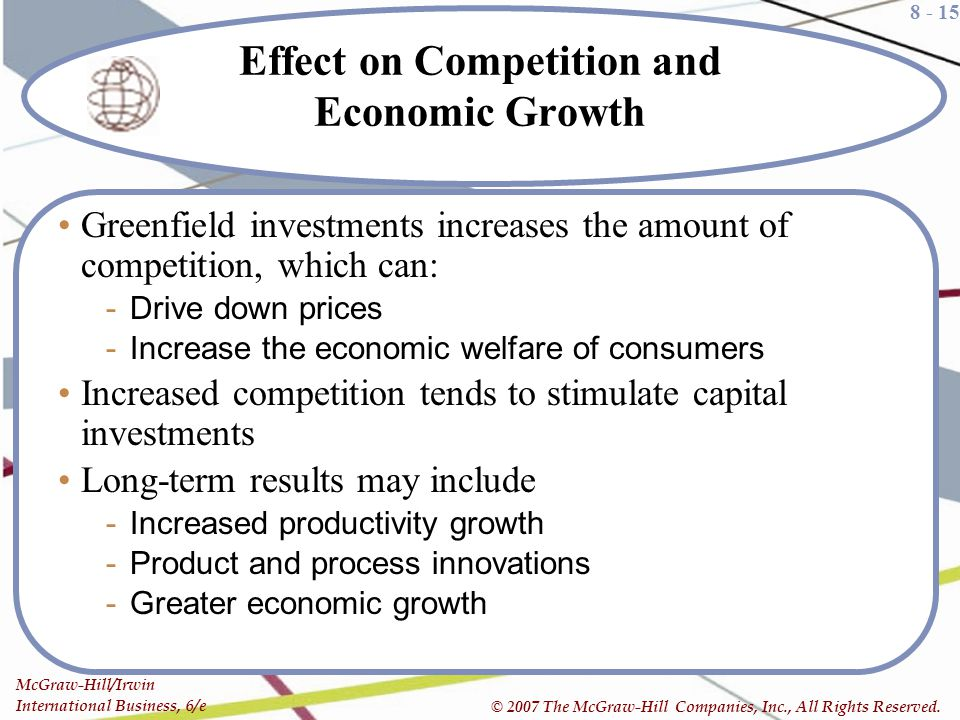 Effect on Competition and Economic Growth