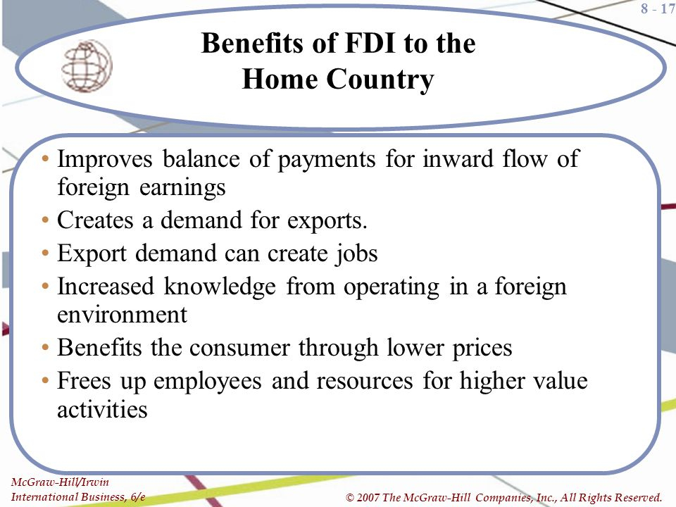 Benefits of FDI to the Home Country