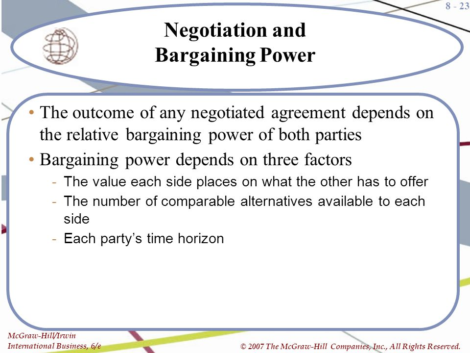 Negotiation and Bargaining Power