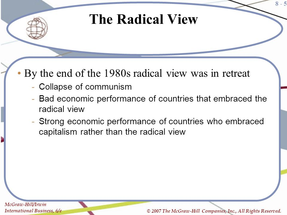 The Radical View By the end of the 1980s radical view was in retreat