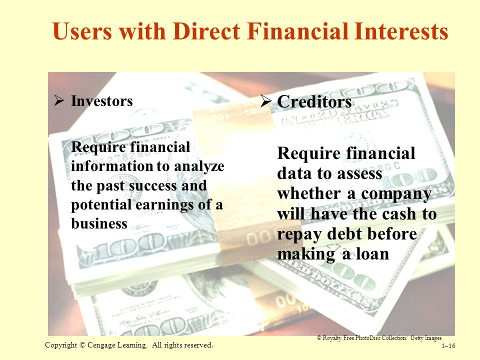 users of financial information and their informational needs essay Financial statement analysis is a method the users of financial statement analysis small business owners need financial information from their operations.