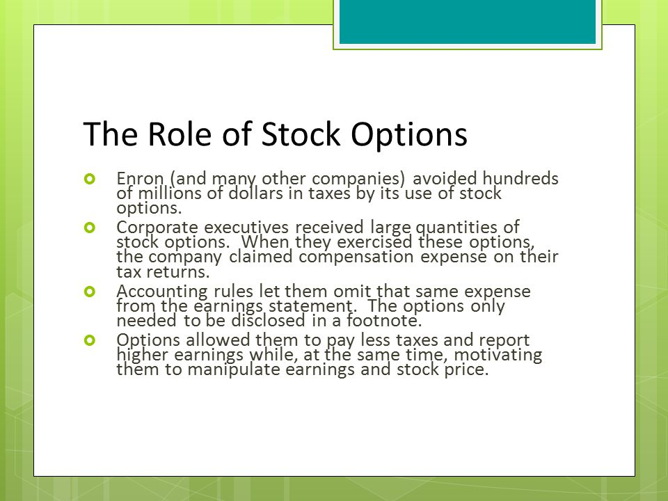 Stock options s corp