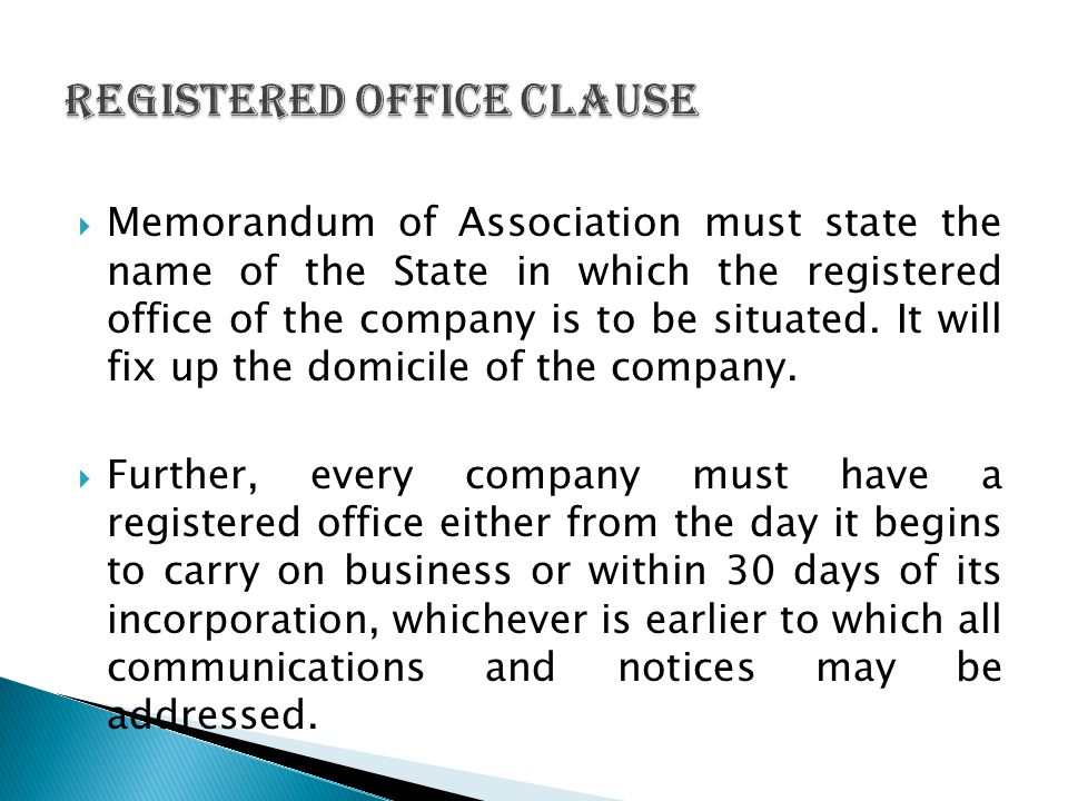 Registered Office Clause