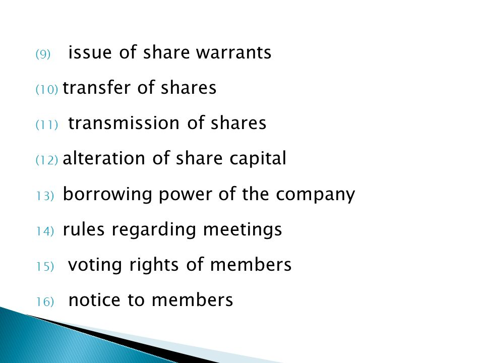 issue of share warrants
