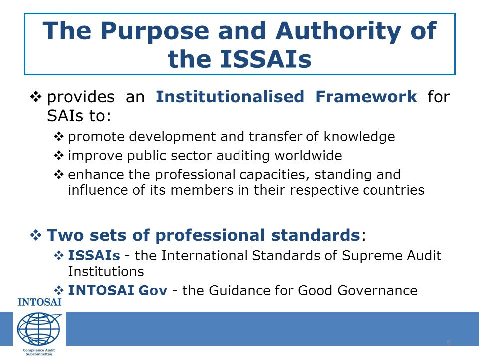 intosai auditing standards This analysis was prepared by the aicpa audit and attest standards staff to  highlight substantive differences between the statements on auditing standards.
