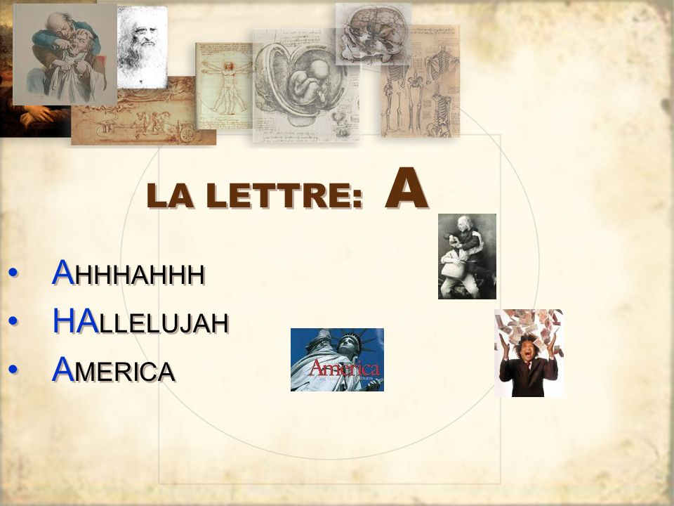 LA LETTRE: A AHHHAHHH HALLELUJAH AMERICA