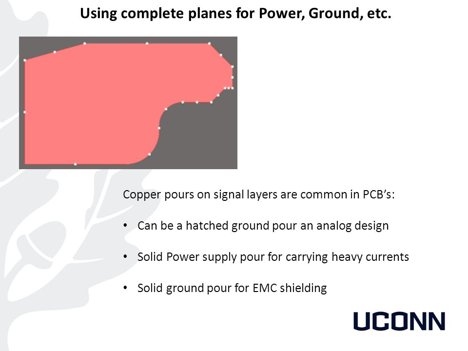 Using complete planes for Power, Ground, etc.