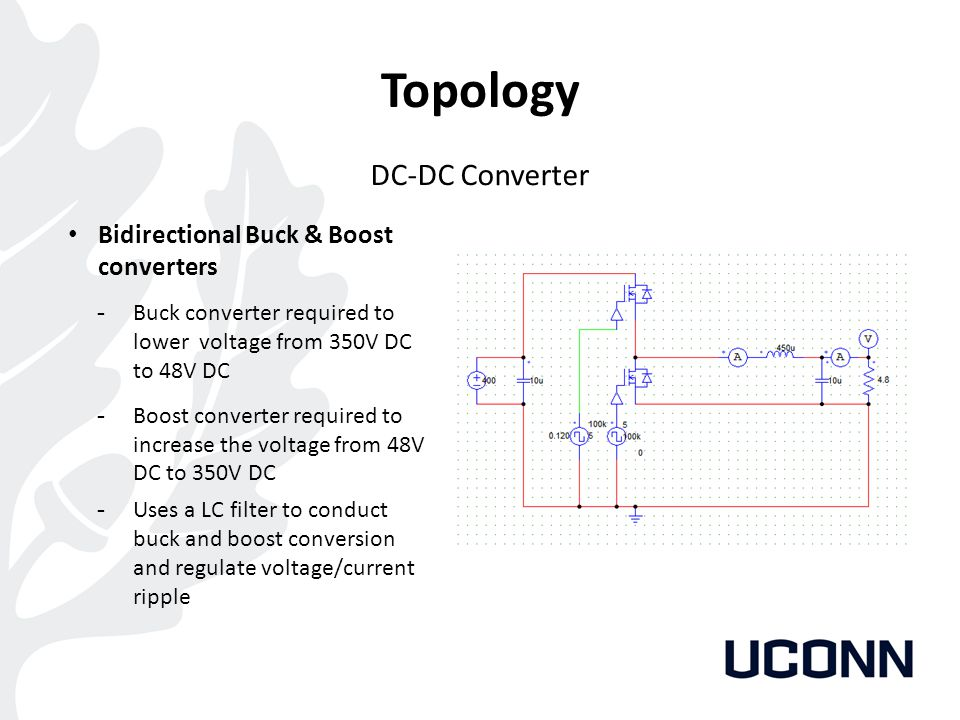 Topology DC-DC Converter Bidirectional Buck & Boost converters
