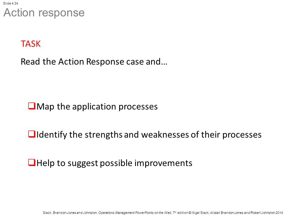 Action response TASK Read the Action Response case and…