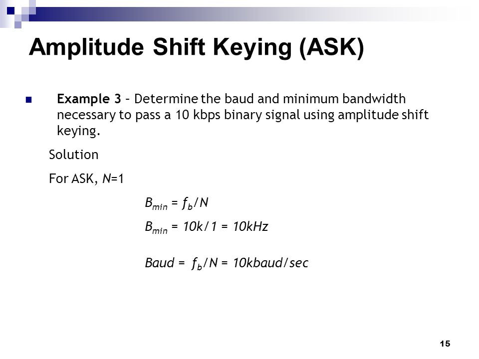 amplitude shift keying Amplitude-shift keying (ask), frequency-shift keying (fsk), and phase-shift keying (psk) are digital modulation schemes ask refers to a type of amplitude modulation that assigns bit values.