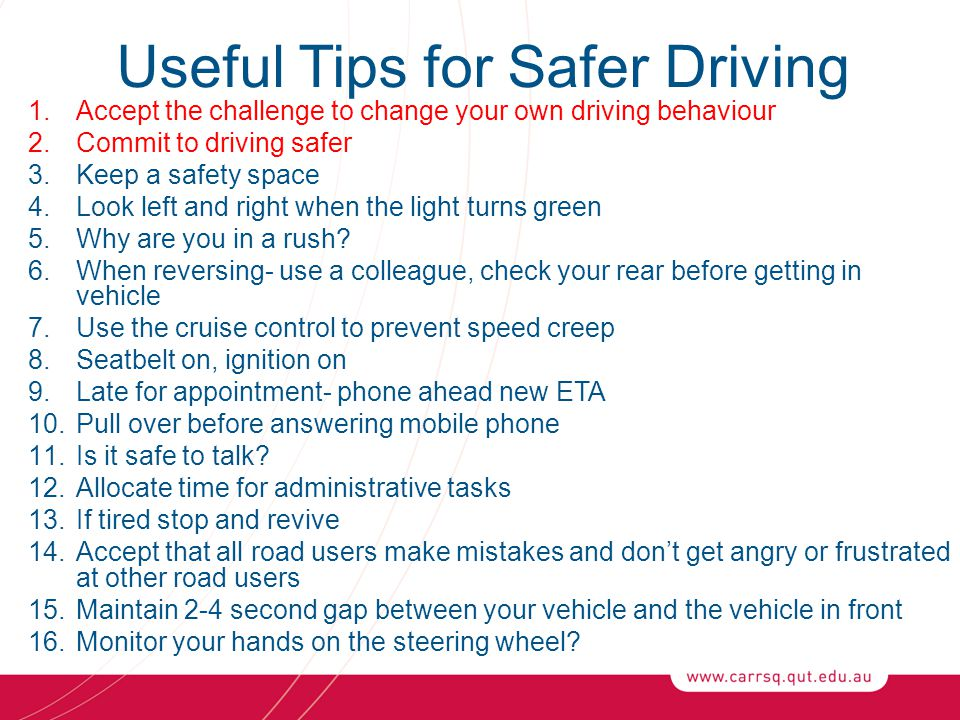 Useful Tips for Safer Driving