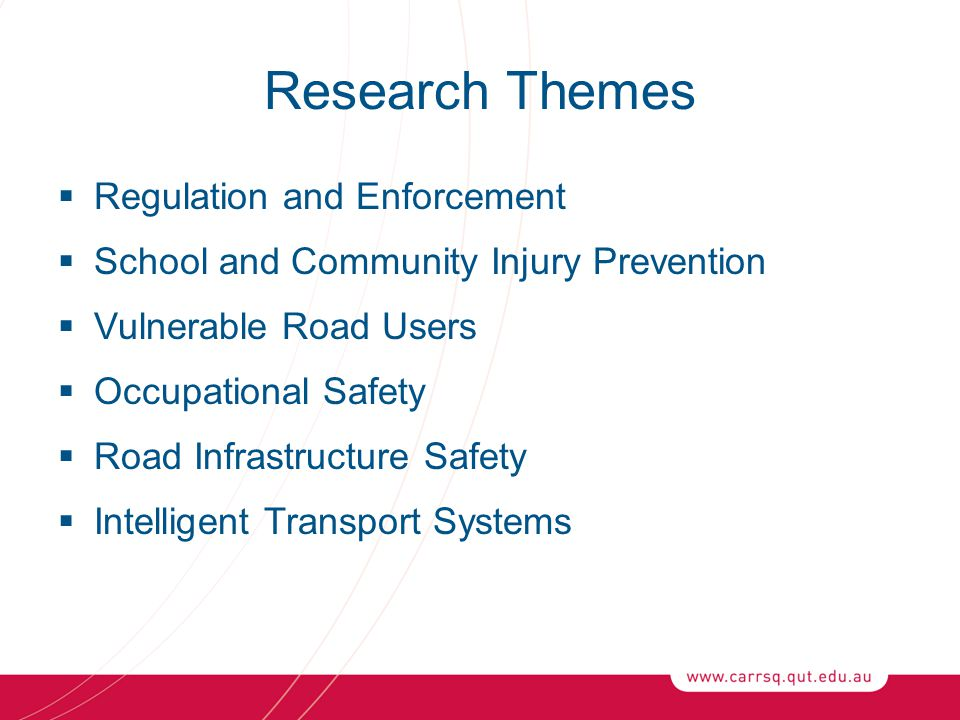 Research Themes Regulation and Enforcement