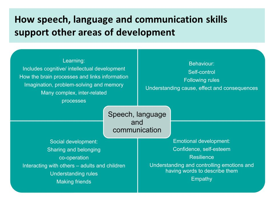 Children's speech, language and communication support