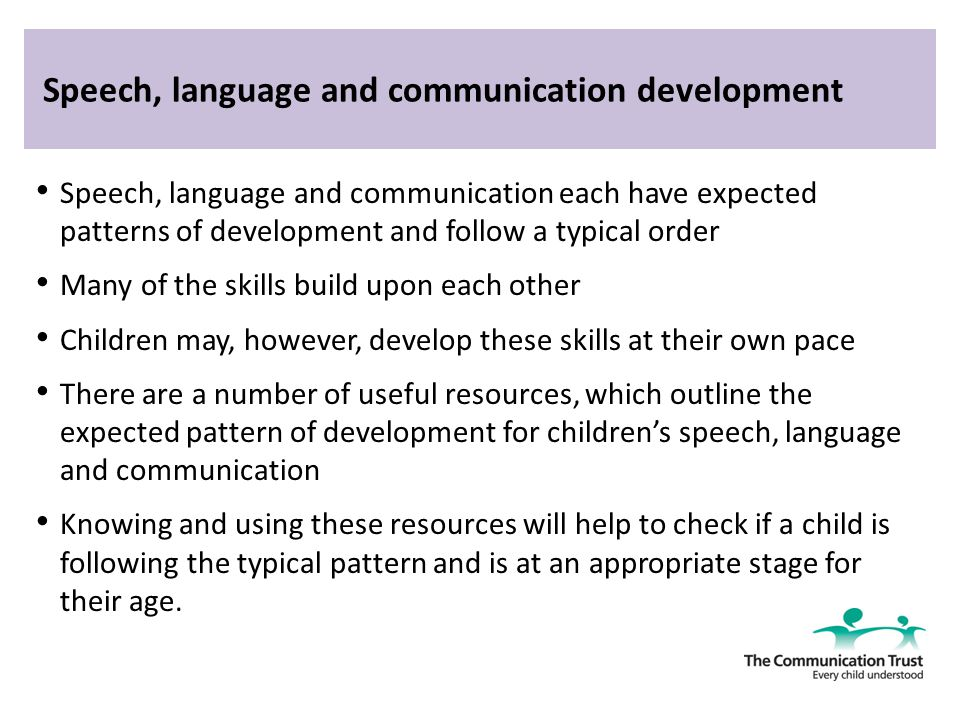 Language & Communication Development