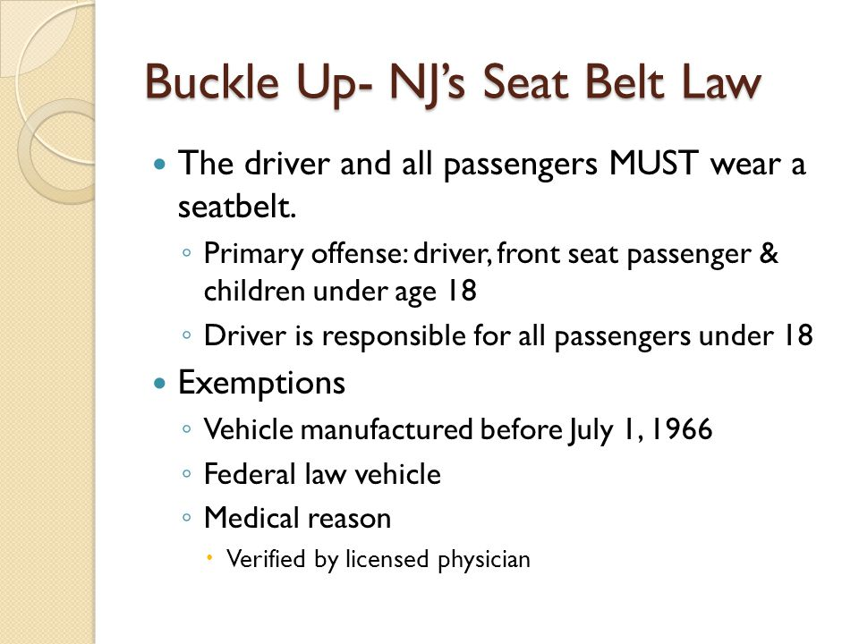the importance of the seatbelt law of the united states