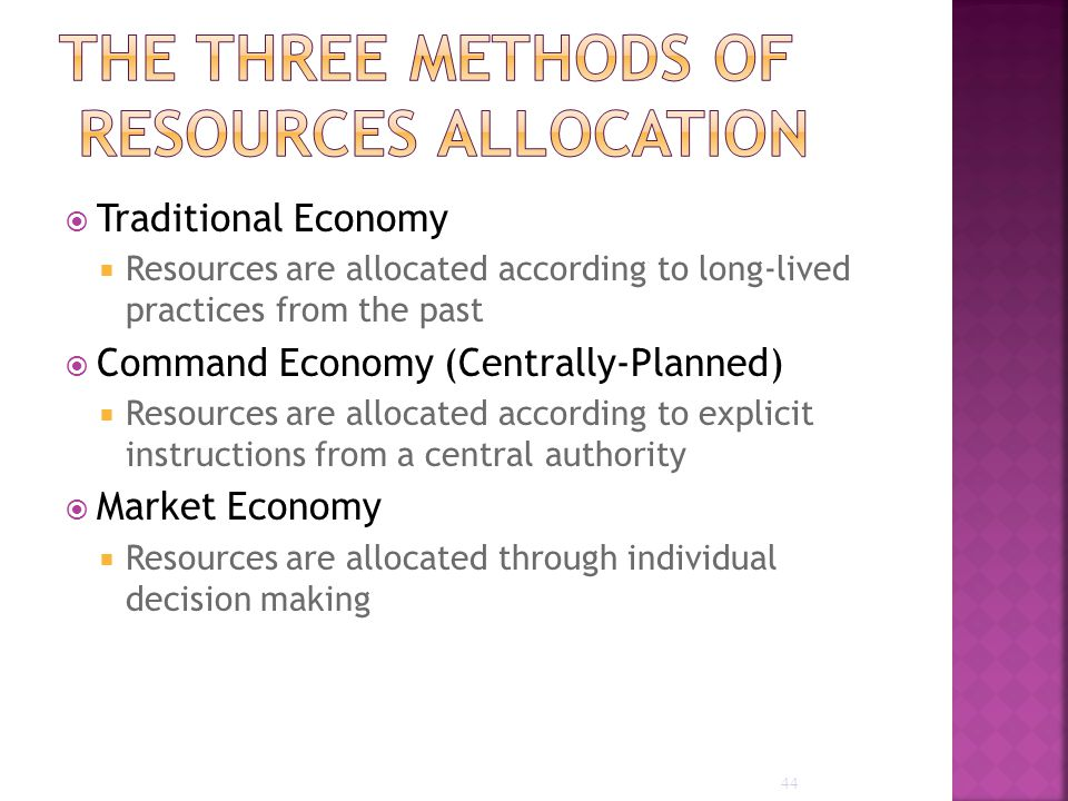 methods of resources allocation Resource allocation for health equity: issues and methods finn diderichsen  resources are usually allocated as they.