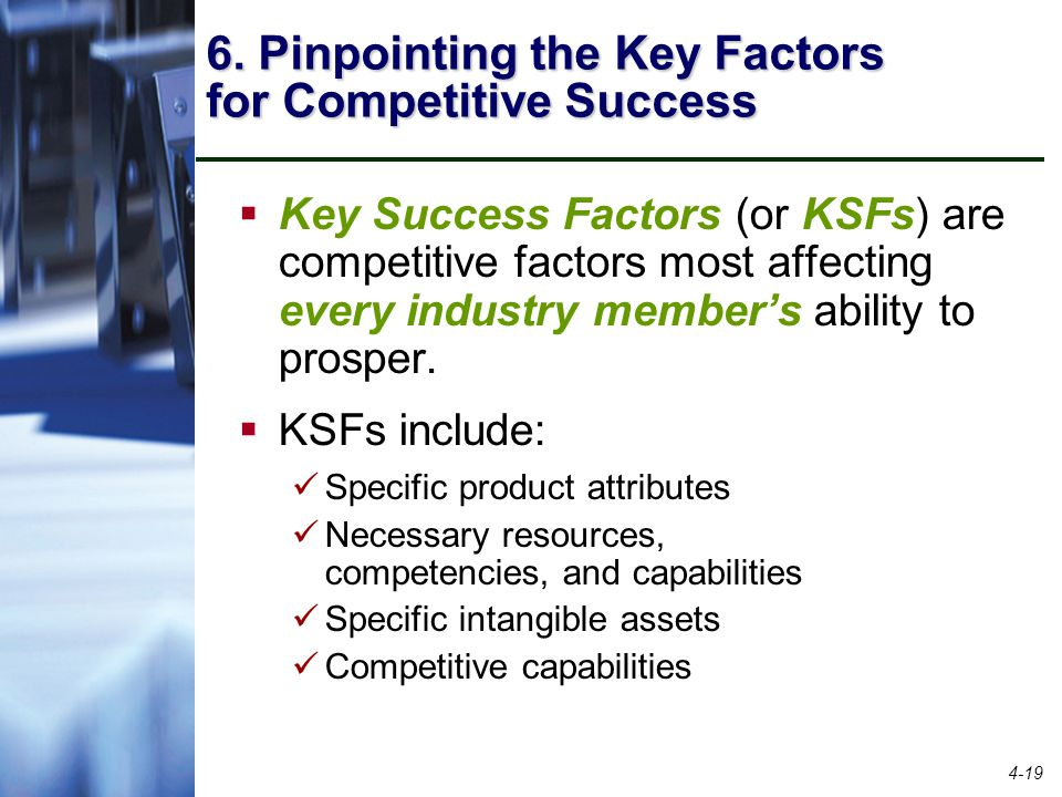 key success factors of cosmetic industry Fashion & beauty government & politics how to, education & training be sure to include external factors such as industry / market trends and competition business strategy key success factors is the property of its rightful owner.