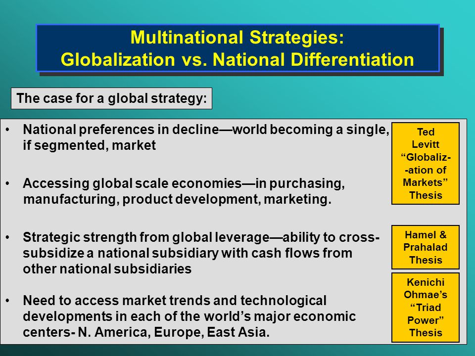 the globalization strategy mnc walmart 22 porter's five forces analysis of wal-mart 5  product strategies– wal-mart provides plenty of products such as sam's choice, great value, mainstays etc .
