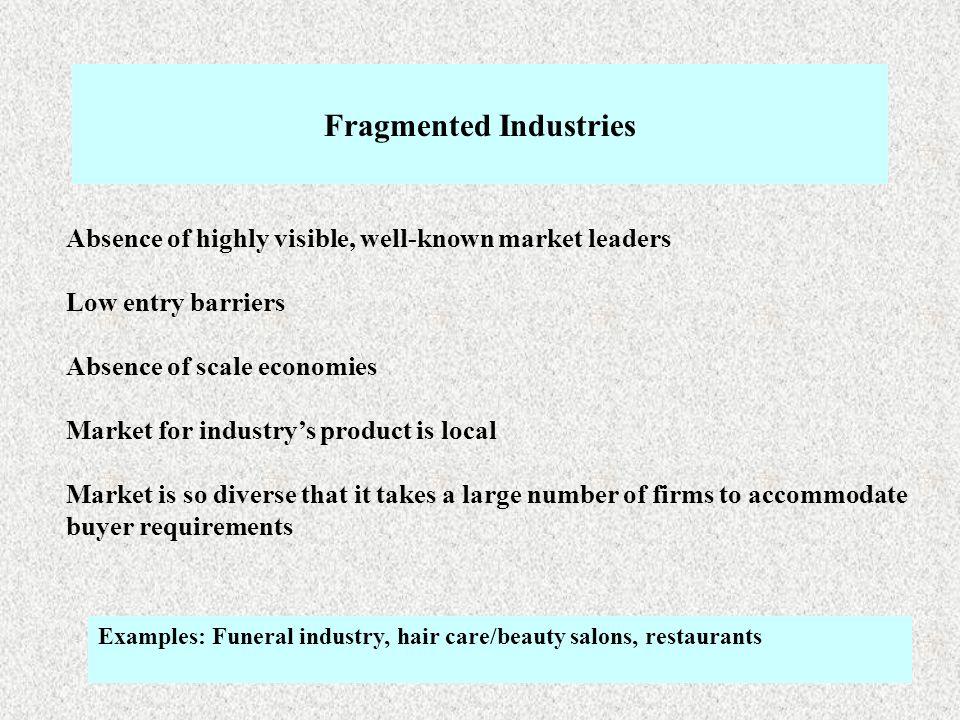 fragmented industries