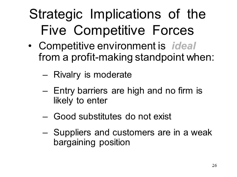 Strategic management and competitive forces
