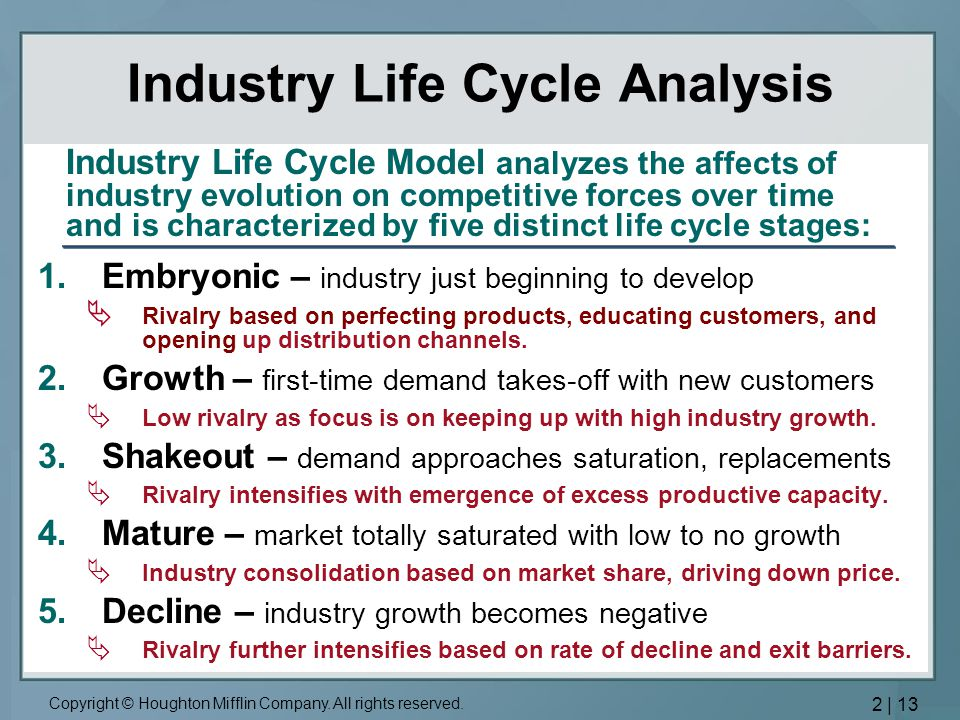 Industry Life Cycle Analysis
