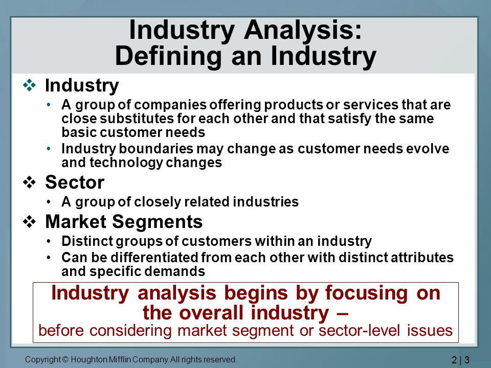 Industry Analysis: Defining an Industry