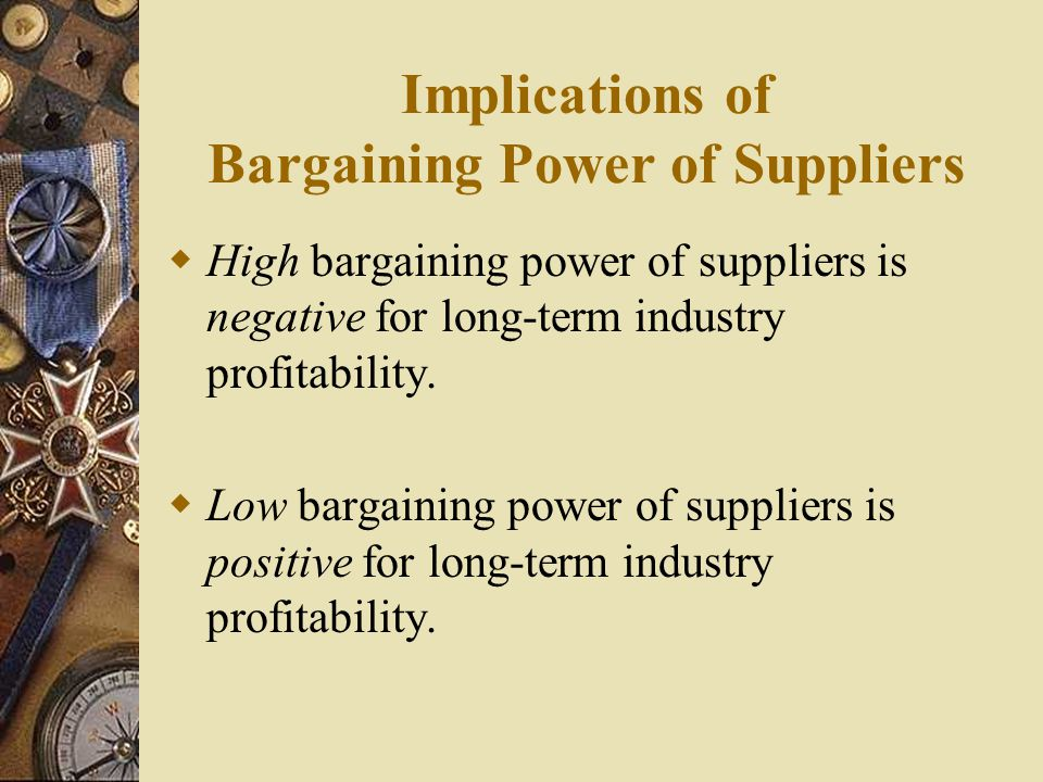 Implications of Bargaining Power of Suppliers