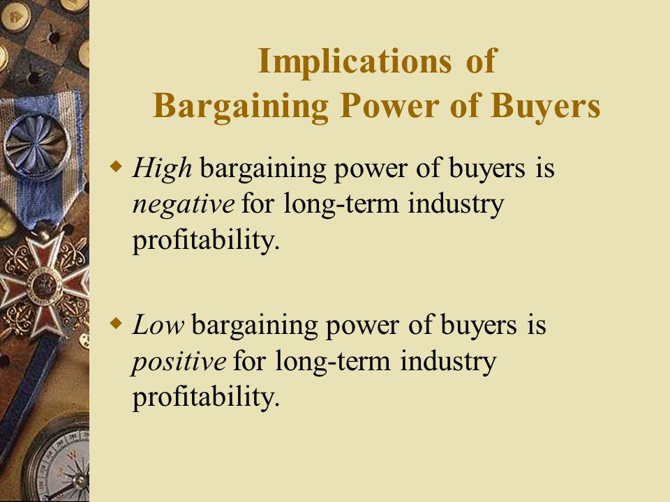 Implications of Bargaining Power of Buyers