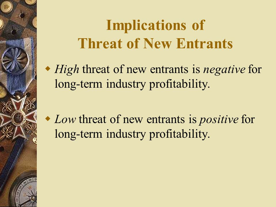 Implications of Threat of New Entrants