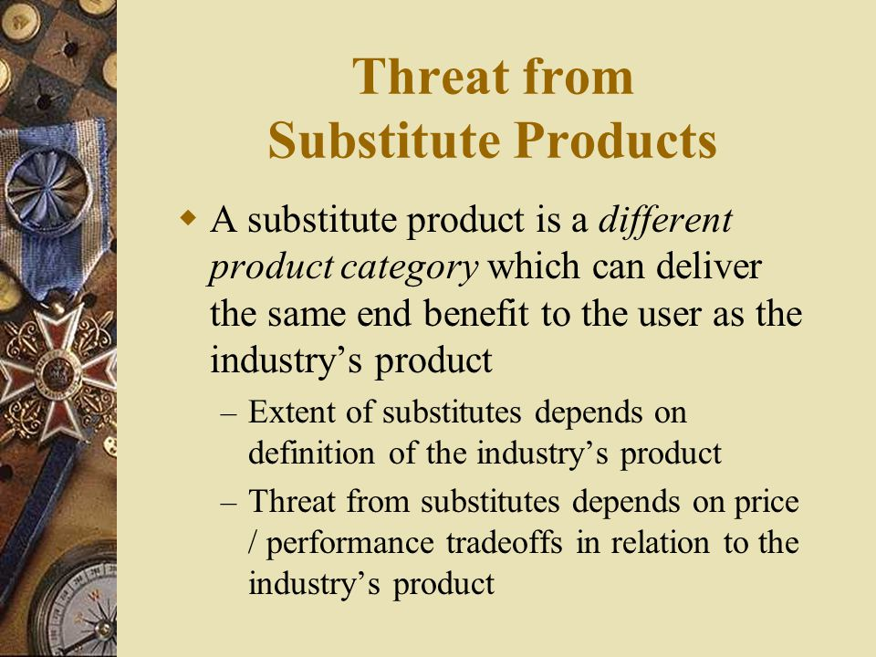 Threat from Substitute Products