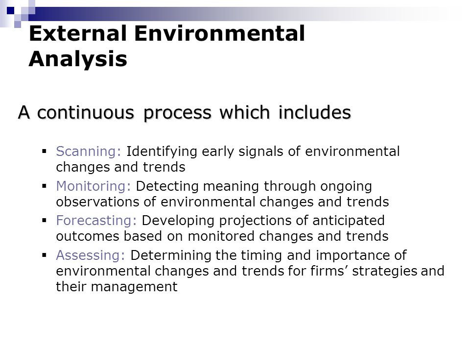importance of external environment analysis pdf