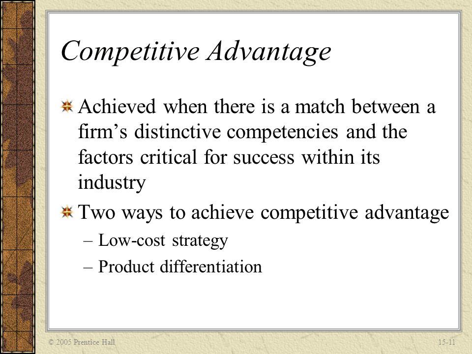 how to achieve competitive advantage