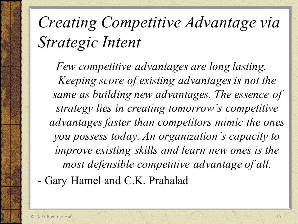 establishing a competitive advantage While creating a sustainable competitive advantage is not easy, the following will help ensure you get and remain ahead of the field 1 establish brand loyalty customers will often remain with a brand they have loyalty towards, even though the company does not offer the cheapest or most effective product.