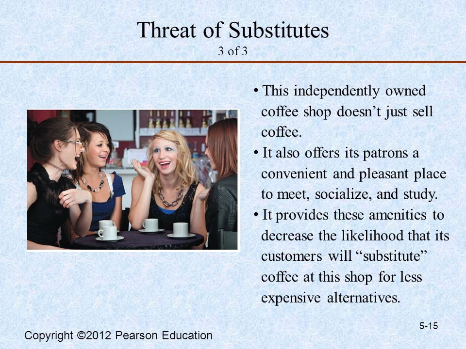 a threat of new entrants and substitutes How to overcome the threat of substitutes substitute products or services can satisfy the same customer needs or can give  (opens in new window) click to share.