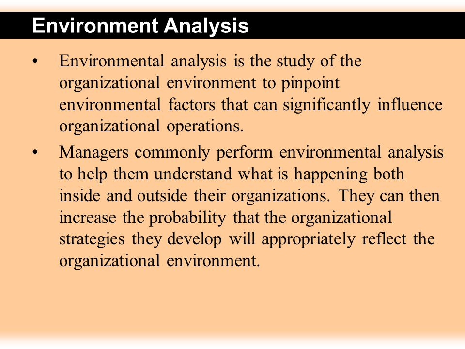 an analysis of the importance of planning in an organizational environment An organizational analysis is a diagnostic business process that can help organizations understand their performance, look for problem areas, identify opportunities, and develop a plan of action.