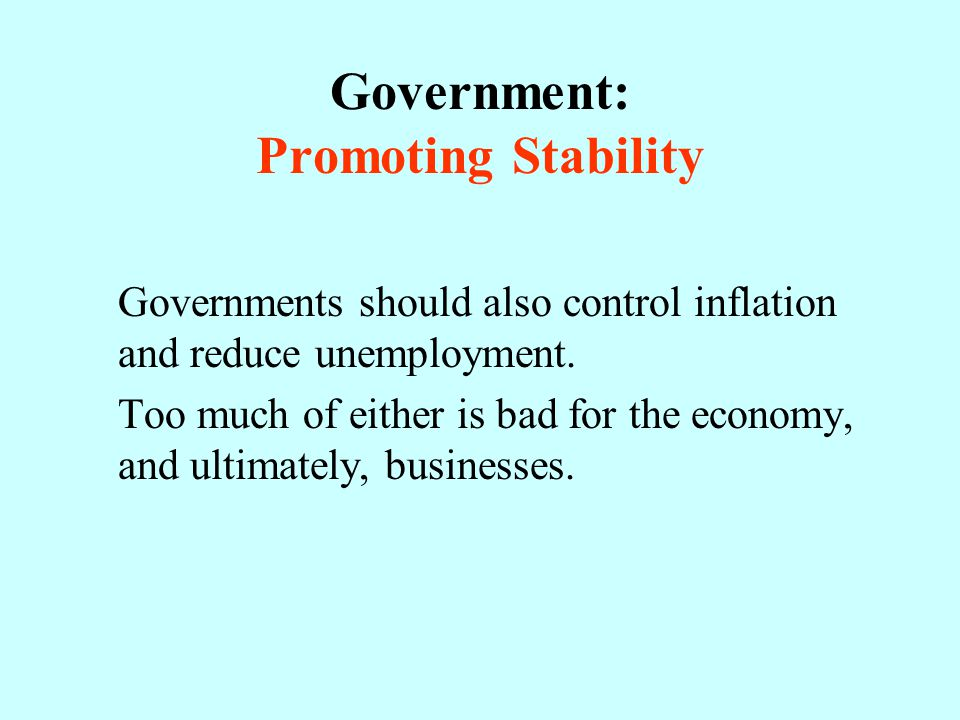 Government: Promoting Stability