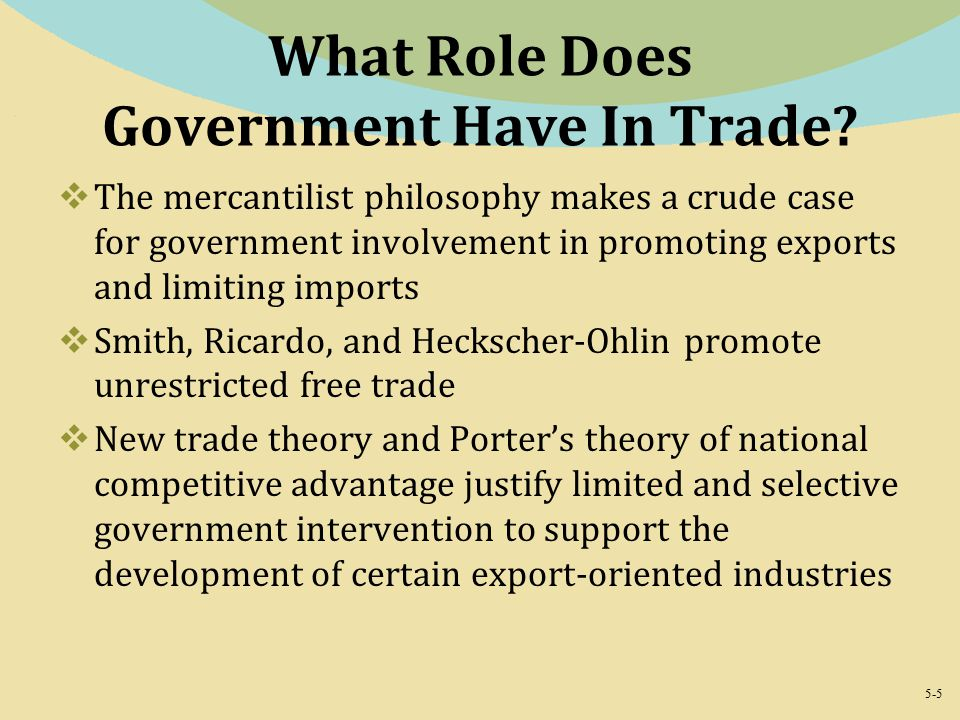 influence of mercantilism on international trade theories Mercantilism, the first theory of international trade emerged in england in the middle of 16th century, formed the backbone of economic thought from 1500-1800 ad the basic premise or philosophy of this theory is that a country would be stronger if its exports exceeded imports in the process, the.