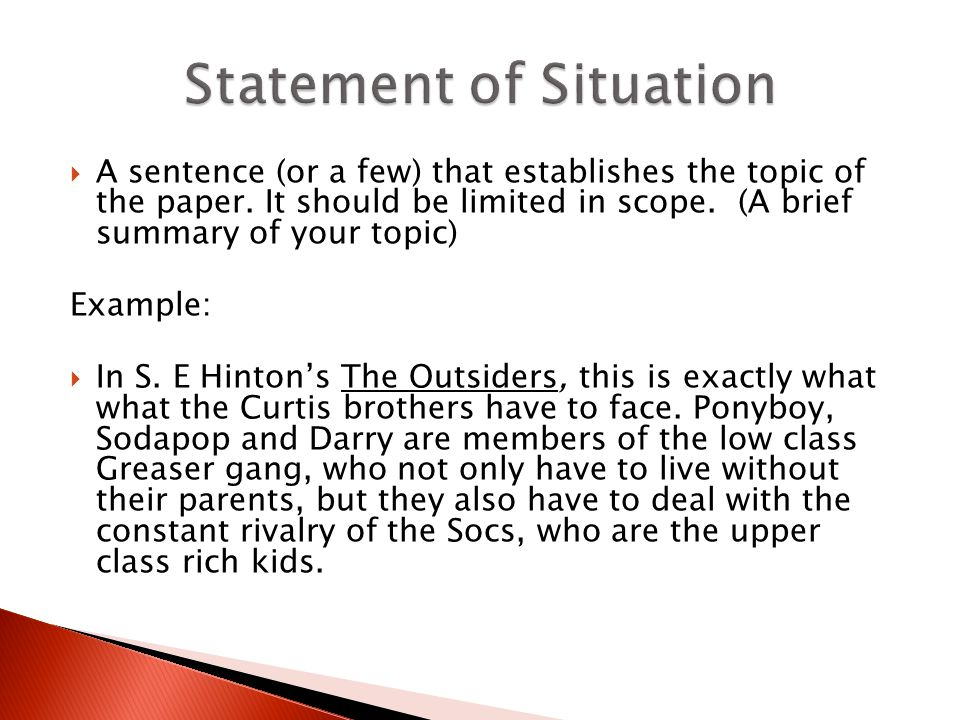 the formal five paragraph essay ppt video online 5 statement of situation