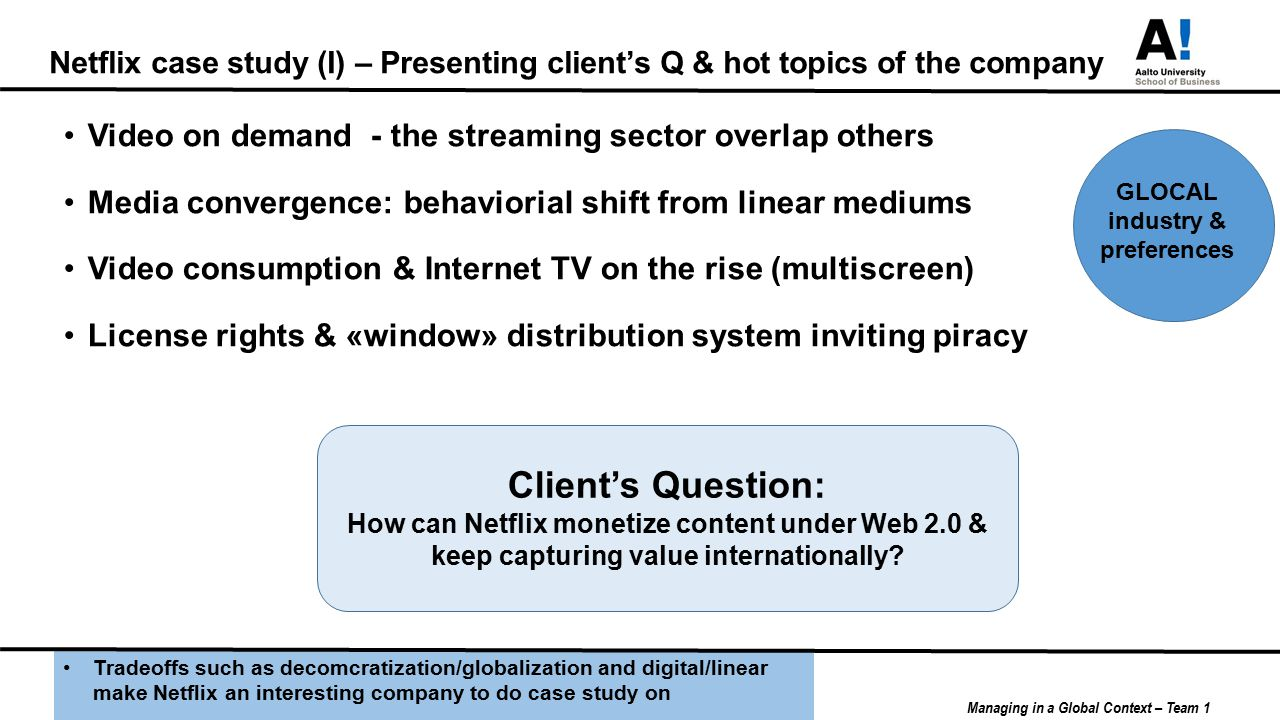 netflix industry driving forces Porter's five forces framework is a tool for analyzing competition of a business it draws from industrial organization (io) economics to derive five forces that determine the competitive intensity and, therefore, the attractiveness (or lack of it) of an industry in terms of its profitability.