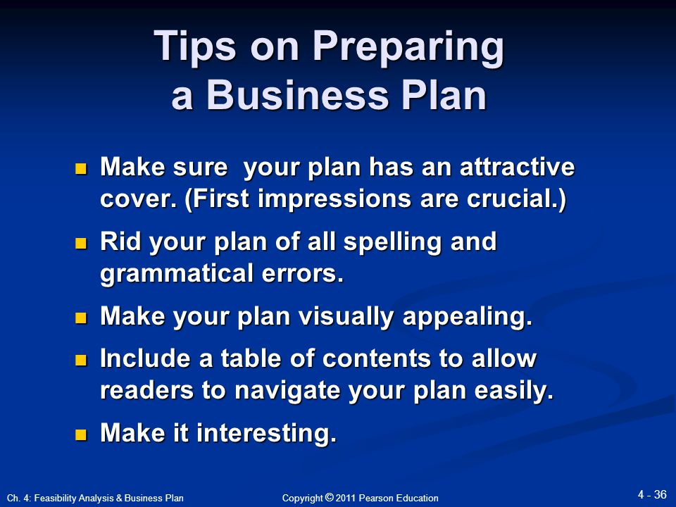 reason preparing business plan