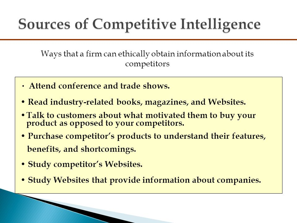 benefits of competitive intelligence pdf