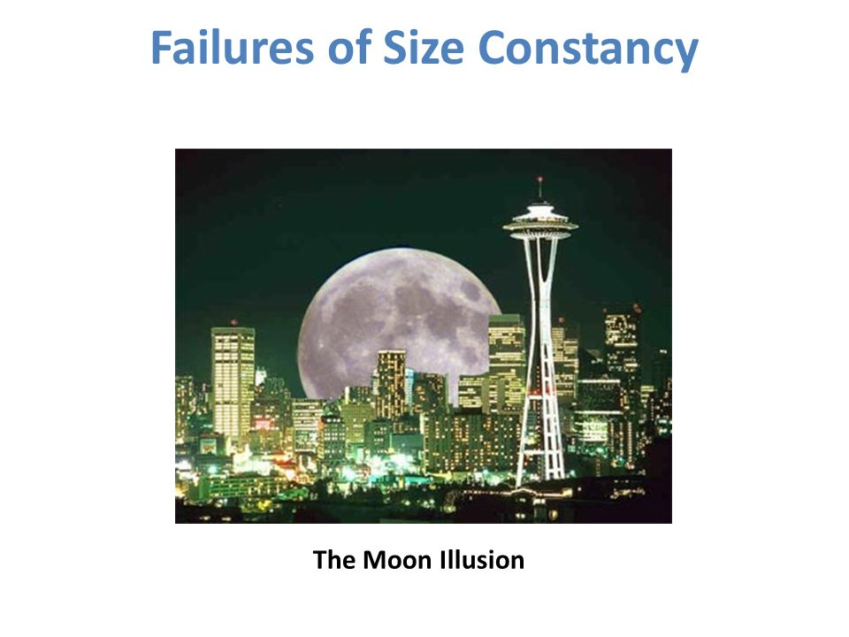 Failures of Size Constancy