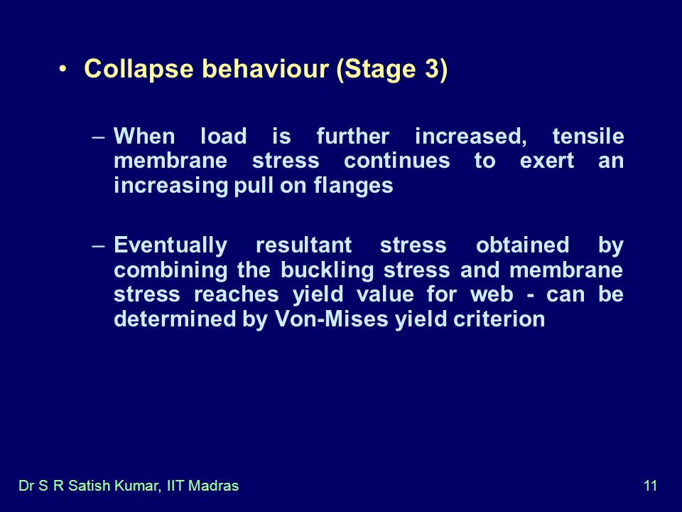 Collapse behaviour (Stage 3)