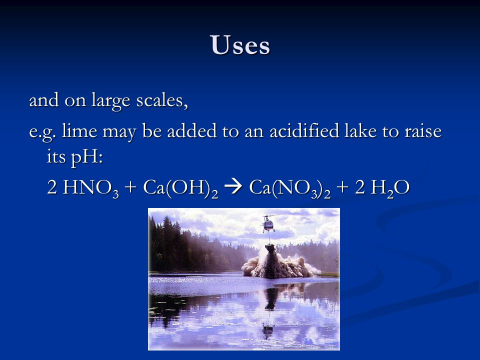 Uses and on large scales,