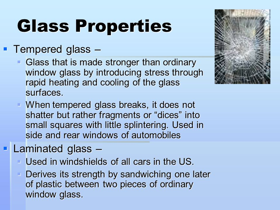 List Of Physical Properties Of Glass