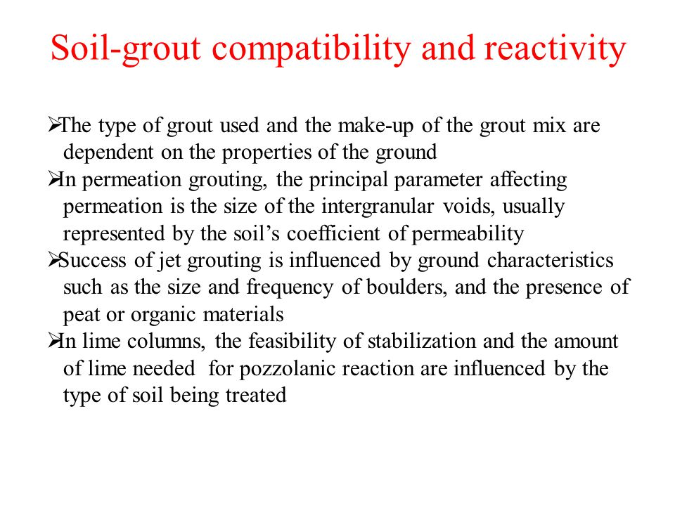 Ground improvement tehnique issues methods and their for Soil grouting