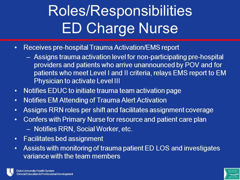 charge nurse responsibilities